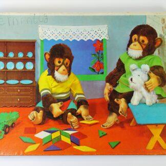 Vintage puzzel apen