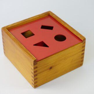 Houten vormen-doos