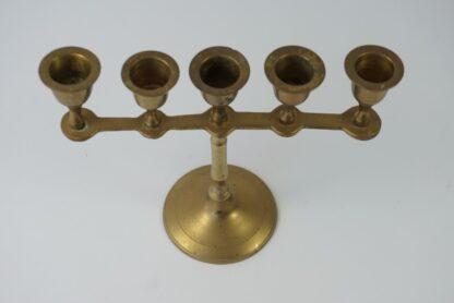 Messing kandelaar voor 5 kaarsen