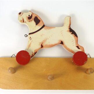 Vintage kapstokje hond