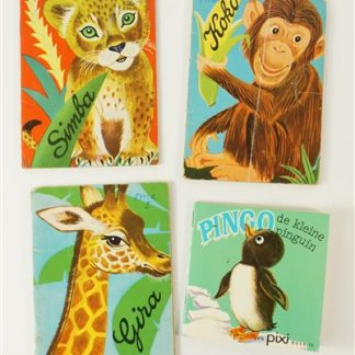 4 mini vintage boekjes