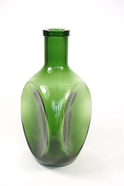 Glazen vintage vaas groen